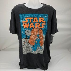 Star Wars Men's T-Shirt Gray XXL (G18)